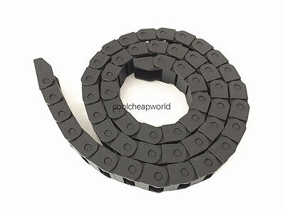 """1pcs Cable Drag Chain Wire Carrier 10*15mm 10mm x 15mm R18 1000mm 40"""" for CNC"""