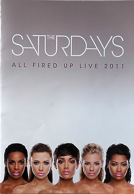 THE SATURDAYS * ALL FIRED UP LIVE TOUR PROGRAMME w/ VIP LANYARD * 2011 * HTF!