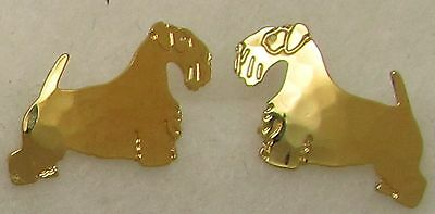 Sealyham Terrier Jewelry Gold Post Earrings by Touchstone