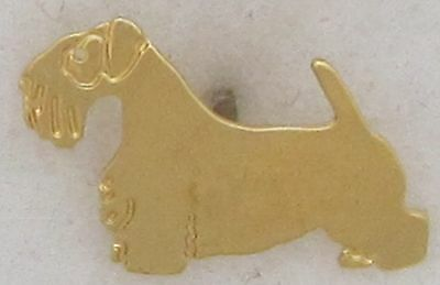 Sealyham Terrier Jewelry Gold Pin by Touchstone