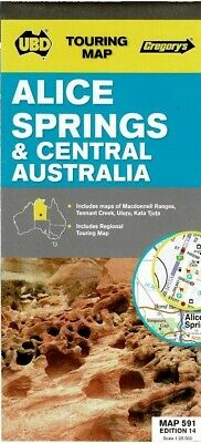 UBD Alice Springs Map 5919780731924325 latest edition new