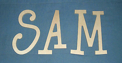"""12"""" size ALL CAPITALS Unpainted Wooden Wall Letters Names Thin-Whimsical Font"""