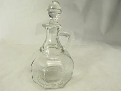 Vintage Glass Cruet Hazel Atlas with Stopper