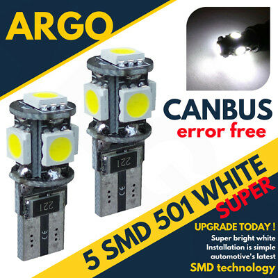 Bmw 3 Series W5W T10 501 5 Smd Led Sidelight Interior Canbus Error Free Bulbs