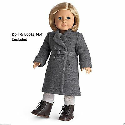 American Girl Kit's Winter Coat Wool NIB Gray Retired Doll Not Included