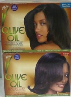 [Vitale] Olive Oil Sensitive Scalp Conditioning No-Lye Relaxer 1Application Kit