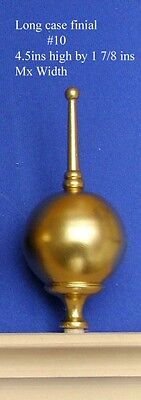 Pair (2) of Long case clock gold painted finials Style #10