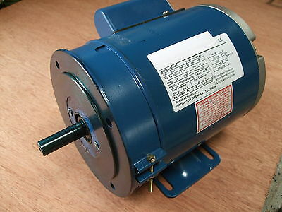 "Meddings/Fobco Drill Motor -Brook Crompton Gryphon, 1ph, 16mm(5/8"") Shaft, 1/2HP"