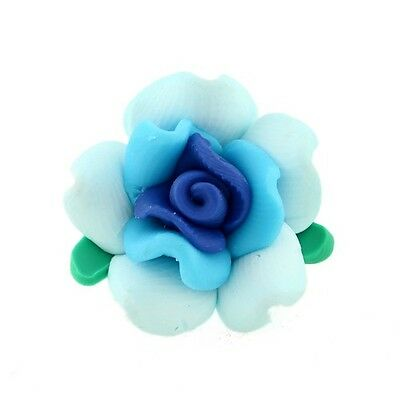 FREE SHIP 30 pcs New Flowers Polymer Clay Charms Spacers 110858 hot