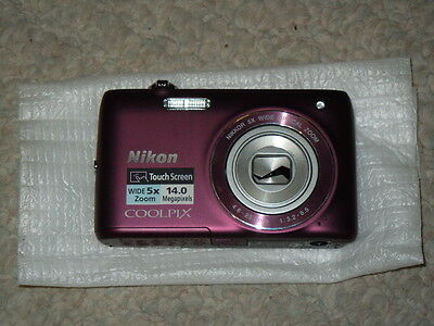 Nikon Coolpix S4100 PLUM - Camera ONLY - No Accessories - PLEASE Read