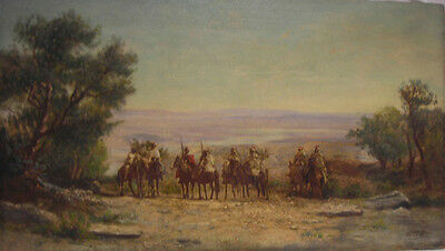 Late 19th Century Continental Listed Artist, E. Huber - Oil on Panel