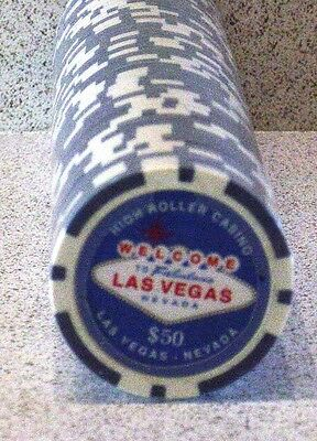 Real Clay Poker Chips $50 Denomination - New - Quan 50