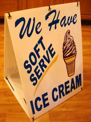 SOFT SERVE ICE CREAM Sandwich Board 2-Sided Sign Kit