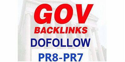 10xPR8 and 10xPR7 Permanent DoFollow .GOV  Backlinks. Best SEO!