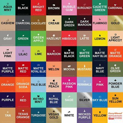 "Siser Easyweed 6 Sheets (15"" x 12"") Select Your Colors!"