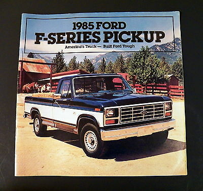 1985 ford trucks sales brochure catalog ranger f 150 f. Black Bedroom Furniture Sets. Home Design Ideas