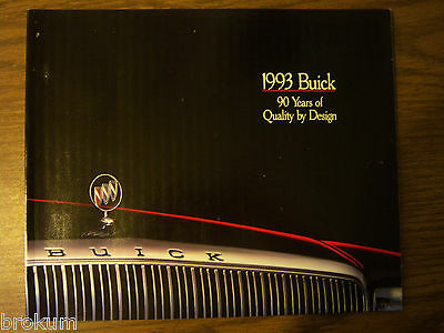 1993 Buick 97 Page Dealer Sales Brochure (Box 284)