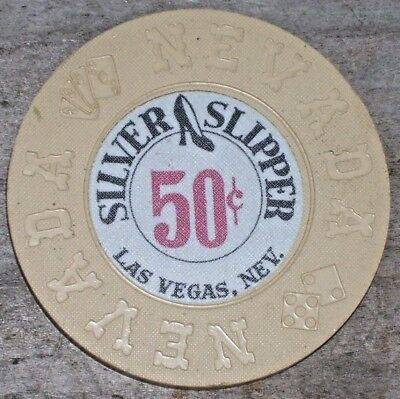 .50 10Th Edt Fractional Chip From The Silver Slipper Casino Las Vegas