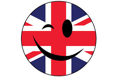 Winking Smiley Face Sticker With Jamaica Jamaican Flag