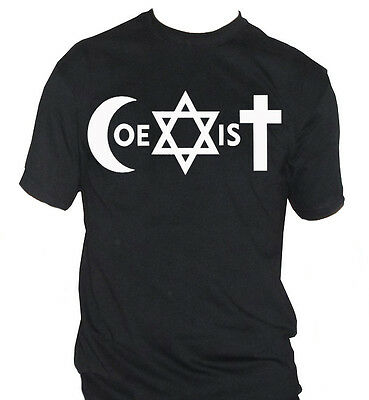 fm10 t-shirt uomo COEXIST coesistere The XX MUSICA