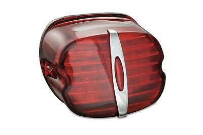 Kuryakyn Deluxe Panacea LED Integrated Rear Taillight Red Lens System Harley