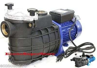"1-1/2"" 1.5 HP Swimming Pool Pump Electric Spa Water Pumps 58GPM w/Strainer"