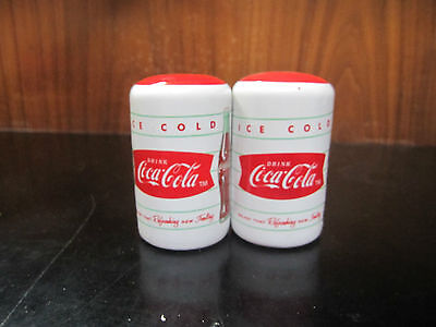 Coca-Cola Ceramic Salt & Pepper Shakers - NIB