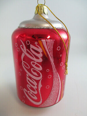 Coca Cola Ornament Can  - European Style Glass - NIP