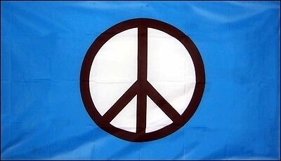 """CND PEACE FLAG 18"""" X 12"""" for boats treehouses caravans FESTIVAL PROTEST FLAGS"""