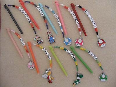 Personalised DS Lite DSI Pen Stylus with Charm Mario Toad Yoshi Koopa