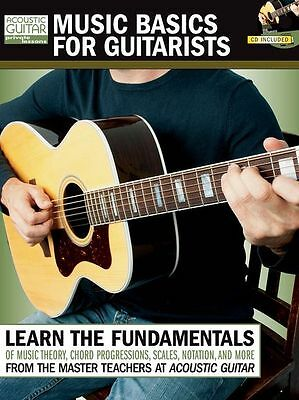 Music Basics for Guitarists Learn to Play Acoustic Guitar TAB Music Book & CD