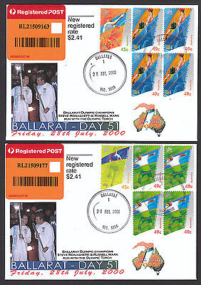 Australia 2000 Olympics Torch Relay Registered FDC Pair