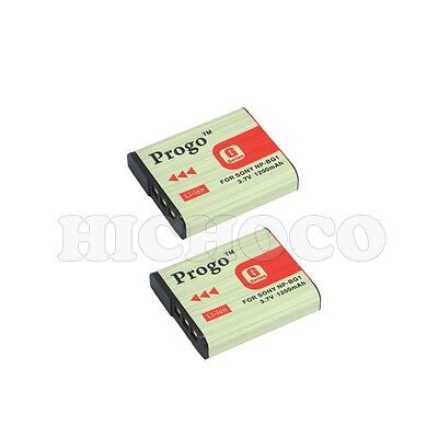 2 Progo Battery For Sony Cyber Shot NP-BG1 FG1 DSC-HX9V HX10V H90 HX7V H55 W300