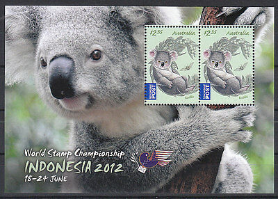 Australia 2012 INDONESIA EXHIBITION OVPT S/S MNH