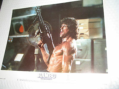 Rambo - First Blood Part Ii /rare Orig. 11X14 Lobby Set Of 8(Sylvester Stallone)