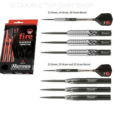 Harrows Fire 90% Tungsten Steel Tip Darts - 21g, 22g, 23g, 24g, 25g and 26g