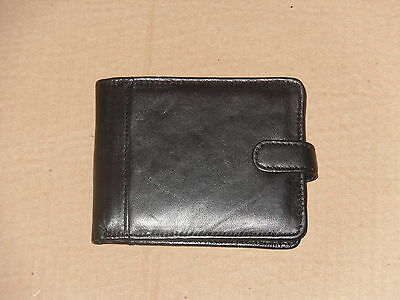 Soft Leather Wallet With Inside Window 12 Card Slits,Swing Over Section.