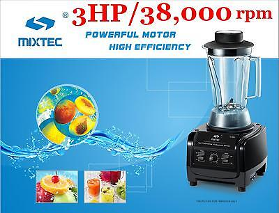 MIXTEC Heavy Duty Blender with Tamper 3HP Motor Up to Speed 38,000 rpm 64Oz