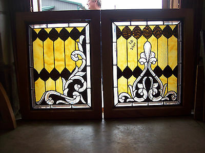 3 pc. set of elaborate windows beautiful bevel cuts magnificent design (SG 1287)