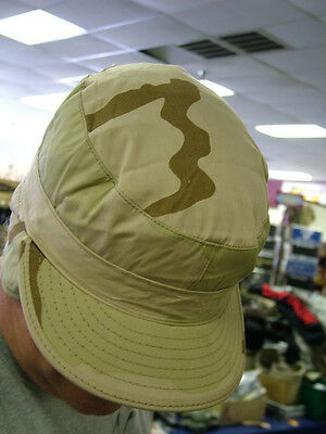Us Army 3 Color Desert Camo Cold Weather Winter Bdu Dcu Patrol Cap 7 1/4 Nwt