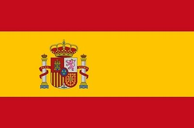 "SPAIN FLAG 18"" X 12"" for boats treehouses caravans boat caravan flags SPANISH"