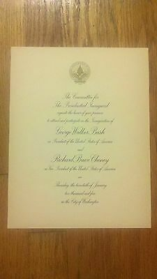 2005 Inauguration OFFICIAL Inaugural Invitation PRESIDENT GEORGE W. BUSH Cheney