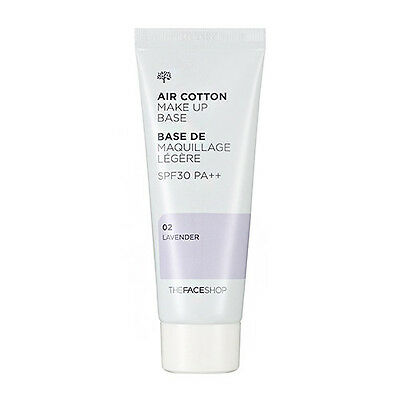 [The FACE Shop] Air Cotton Makeup Base SPF30 PA++ 02 Lavender,Upgrade Lovely MEE