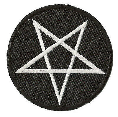 Ecusson patche Pentacle Satan Satanique thermocollant patch brodé
