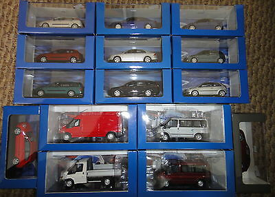 Ford 1/43 Scale Diecast Models By Minichamps In Ford Packaging Brand New!