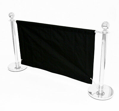 1.6 meter black banners for our cafe barrier systems, shop banners, cafe banners