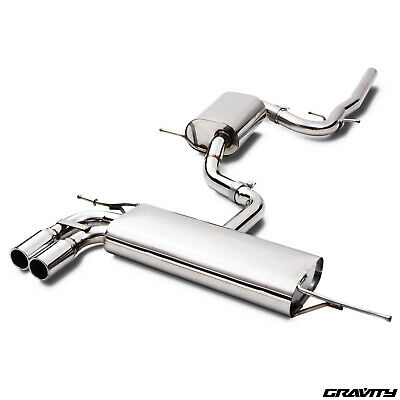 Stainless Cat Back Sport Race Exhaust System For Audi A3 8P 2.0 Tdi 170Bhp 03-13