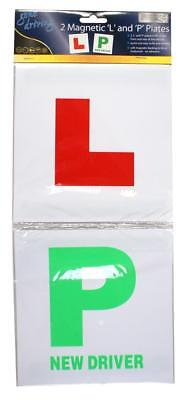 BoyzToyz RY189 Magnetic Car Learner Driver Red Green L & P Plates Twin Pack New