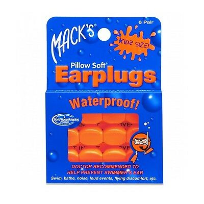 MACK'S Kids / Child Size Soft Mouldable Earplugs 6 Pairs - Same day dispatch