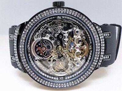Brand New Joe Rodeo/Jojo/Jojino Black Metal Automatic Swiss Diamond Watch Jjm 82